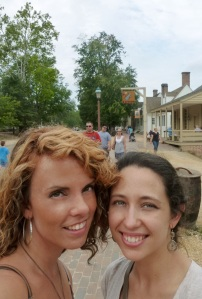 Me and my friend Peggy exploring the Historic Area!
