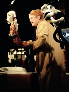 Christmas Carol Scrooge with puppets 2