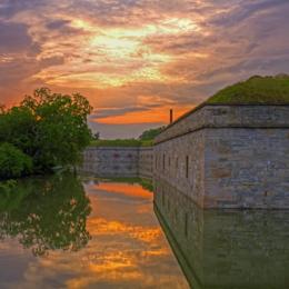 Ft. Monroe moat
